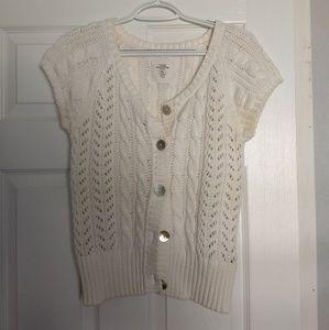 Cream short sleeved cardigan
